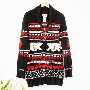 HBC NEW 2012 Olympics Collection Polar Bear Zip Sweater Large